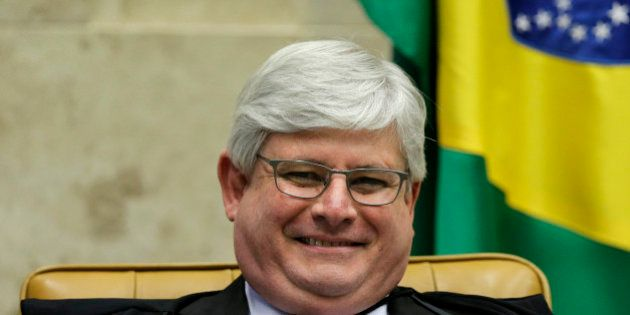 Brazil's General Prosecutor Rodrigo Janot smiles during a session at the Supreme Court in Brasilia March...