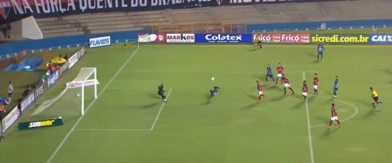 Um gol desconhecido do Campeonato Goiano está entre os 10 melhores da Fifa