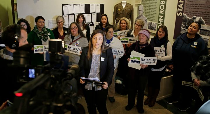 "Seattle City Council member Teresa Mosqueda was the first person in the country to win an elected office by collecting ""democ"