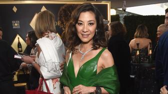 BEVERLY HILLS, CA - JANUARY 06:  Michelle Yeoh attends Moet & Chandon at The 76th Annual Golden Globe Awards at The Beverly Hilton Hotel on January 6, 2019 in Beverly Hills, California.  (Photo by Michael Kovac/Getty Images for Moet & Chandon)