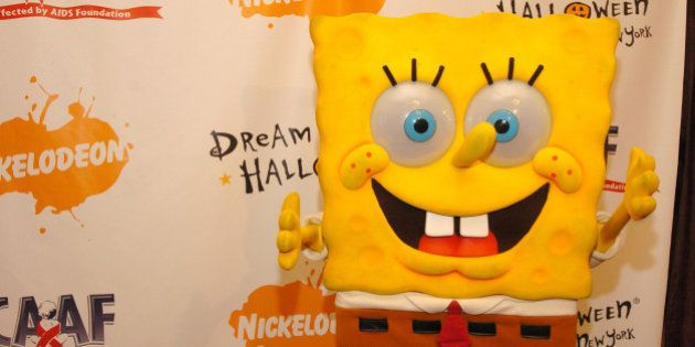 SpongeBob Squarepants during Annual Dream Halloween Fundraiser for Children Affected by AIDS Foundation...