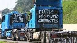 Contra Dilma e preço do diesel, caminhoneiros bloqueiam rodovias no