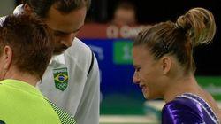 Força, Jade! Lesão da ginasta brasileira na final comove a