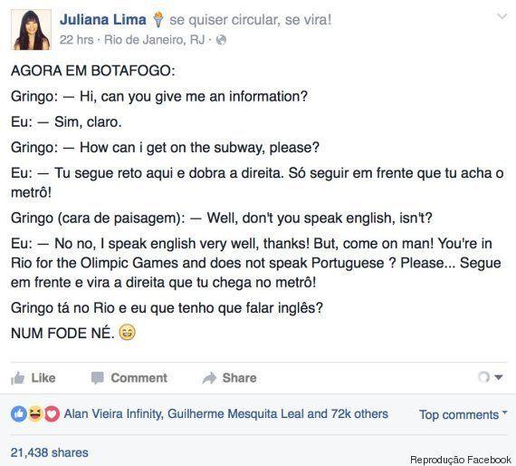 Brasileira se recusa a ajudar gringo no Rio de Janeiro e vira meme