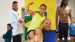 Encontro de gigantes: Estas fotos de Flavinha com gigantes do Brasil são MUITO