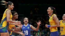 'Aqui não, queridinha!' Brasil vence Coreia do Sul em vôlei