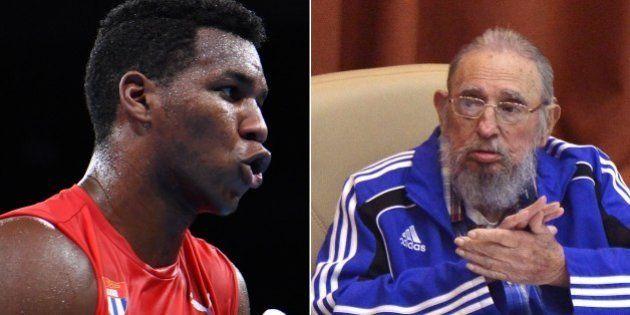 Boxeador cubano dedica vitória no Rio a Fidel no aniversário de 90 anos do
