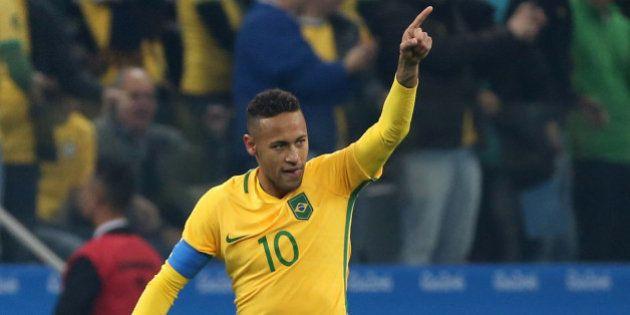 2016 Rio Olympics - Soccer - Quarterfinal - Men's Football Tournament Quarterfinal Brazil v Colombia...