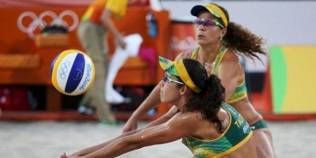 2016 Rio Olympics - Beach Volleyball - Women's Quarterfinal - Beach Volleyball Arena - Rio de Janeiro,...