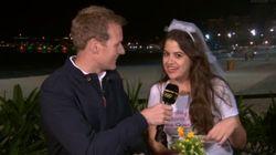 Medalha de ouro na zoeira: Noiva 'invade' transmissão da BBC no