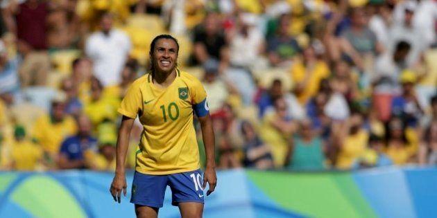 2016 Rio Olympics - Soccer - Semifinal - Women's Football Tournament Semifinal Brazil v Sweden - Maracana...