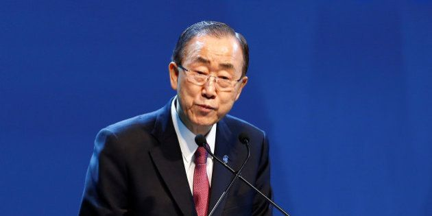 U.N. Secretary-General Ban Ki-moon speaks during the opening ceremony of the World Humanitarian Summit...