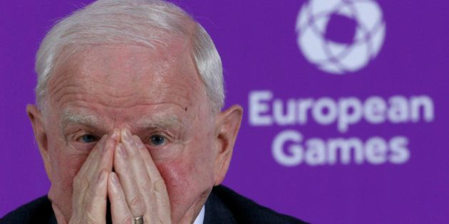 Patrick Hickey, the head of the European Olympic Committee attends a news conference on the eve of the...