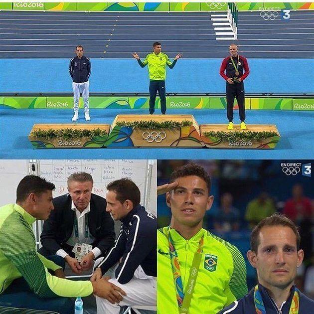 A vaia a um atleta no pódio é um dos momentos mais constrangedores da História da
