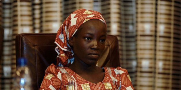 Amina Ali Darsha Nkeki, a Nigerian schoolgirl rescued after over two years of captivity with Boko Haram...