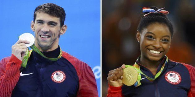 Simone Biles e Phelps vão pagar um total de R$ 317,4 mil de imposto por suas medalhas na Rio
