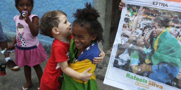 2016 Rio Olympics - Judo - Cidade de Deus - Rio De Janeiro, Brazil - 9/08/2016. Cousins of Brazilian...