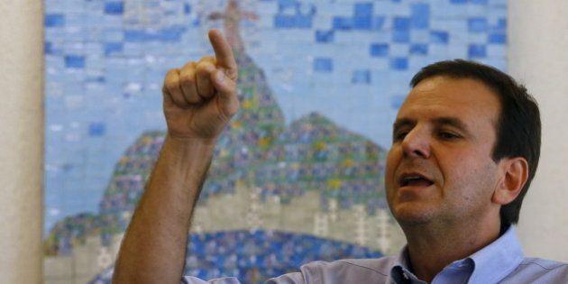 Rio de Janeiro's Mayor Eduardo Paes attends an interview with Reuters, in Rio de Janeiro, Brazil August...