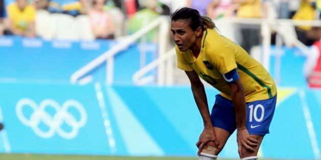 2016 Rio Olympics - Soccer - Final - Women's Football Tournament Bronze Medal Match - Brazil v Canada...