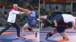 ASSISTA: Lutadora japonesa dá golpe em treinador ao comemorar medalha de