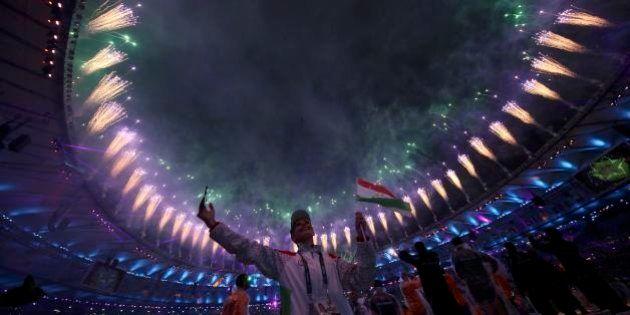 2016 Rio Olympics - Closing ceremony - Maracana - Rio de Janeiro, Brazil - 21/08/2016. Participants celebrate...