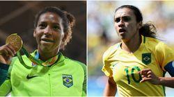 Elas no comando: Futebol feminino e Rafaela Silva são o esporte e a atleta mais comentados da Rio