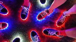 Empresa que criou tênis de luzinha da delegação britânica pode colocá-lo no