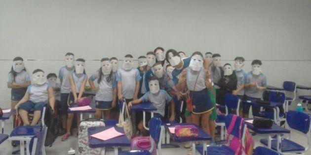 Estudantes de colégio em Tocantins dão uma lição de empatia ao ajudar aluna após