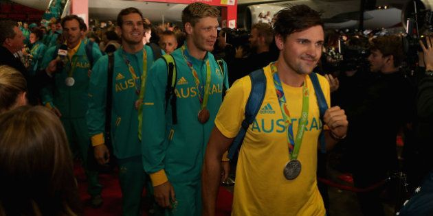 SYDNEY, AUSTRALIA - AUGUST 24: Autralian athletes arrive home during the Welcome Home for Australian...