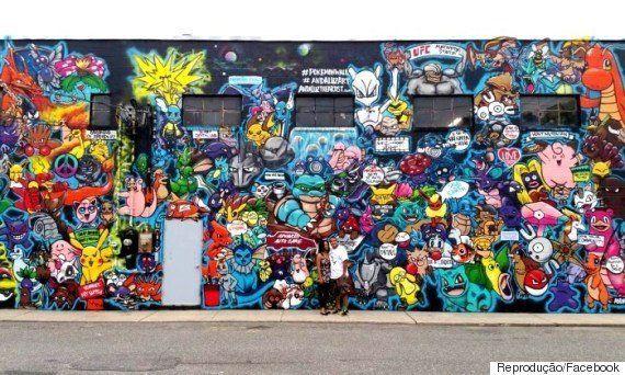 Artista plástico deu cor ao bairro ao pintar imóvel com 151 pokémons