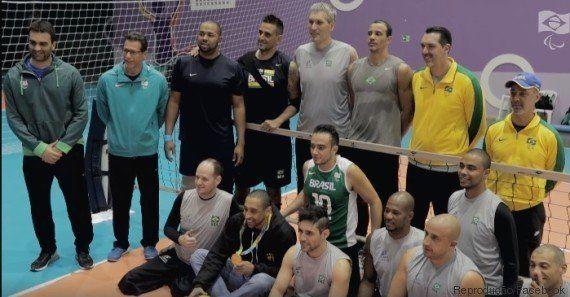 Serginho anima treino de seleção paralímpica e afirma: 'O vôlei tradicional é muito