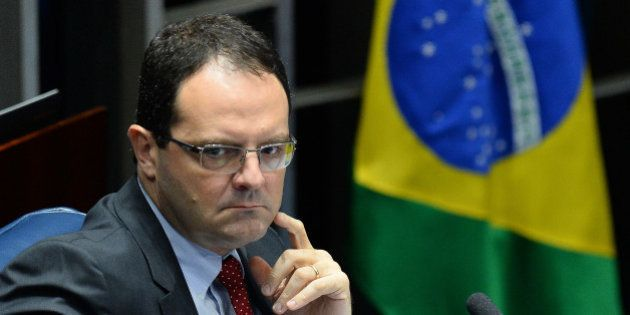Brazil's former Economy Minister Nelson Barbosa testifies as defense witness during the third day of...