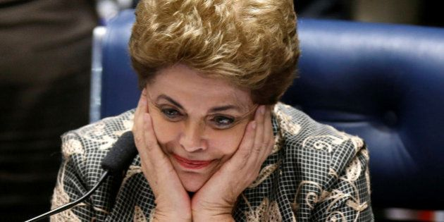 Brazil's suspended President Dilma Rousseff attends the final session of debate and voting on her impeachment...