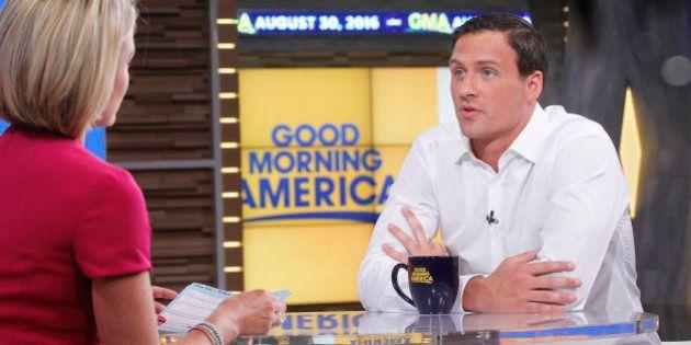 GOOD MORNING AMERICA - Olympic swimmer Ryan Lochte is a guest on 'Good Morning America,' 8/30/16, airing...