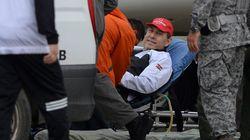 Emoção marca retorno de sobreviventes de acidente aéreo a