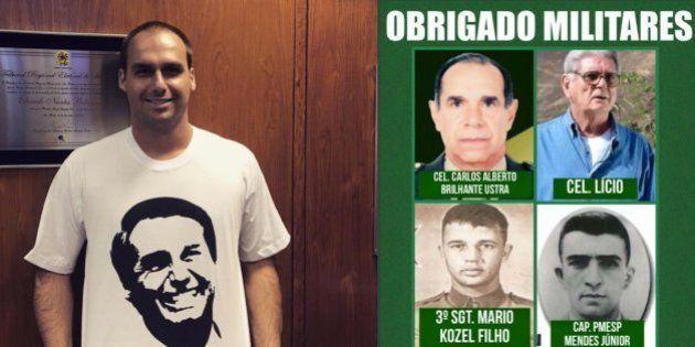 'Viva Ustra': Deputado Eduardo Bolsonaro comemora impeachment de Dilma Rousseff agradecendo torturador