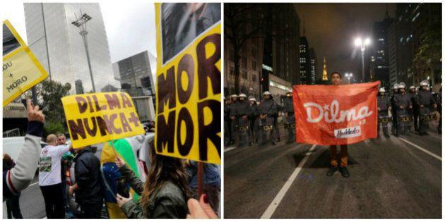 Avenida Paulista é ocupada por manifestantes a favor e contra o