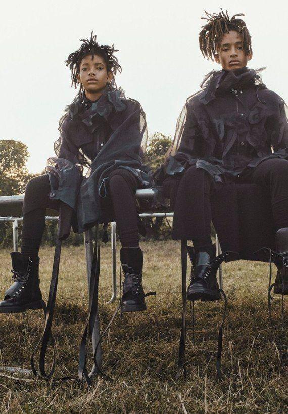 Jaden e Willow Smith abrem o jogo sobre fama, redes sociais e futuro na revista