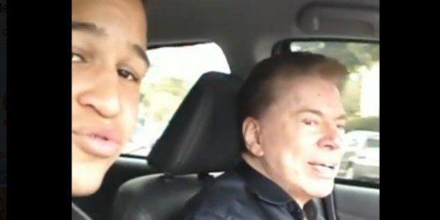 Silvio Santos vira 'motorista do Uber' por um dia e dá carona para fã
