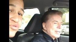 Silvio Santos vira 'motorista do Uber' por um dia e dá carona para
