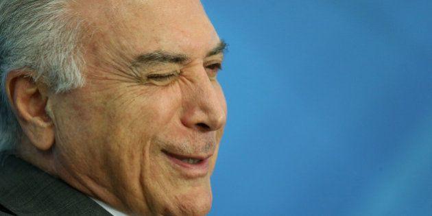 Brazil's President Michel Temer attends a ceremony at the Planalto Palace in Brasilia, Brazil December...