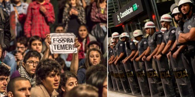 De novo: Ato contra governo Temer em SP termina com ação truculenta da Polícia