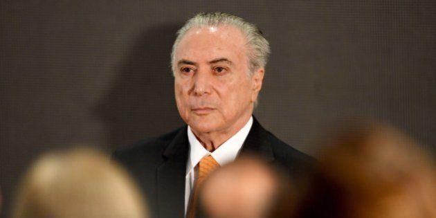 Brazilian President Michel attends the presentation of the Brazil Merit Award for Public Management at...