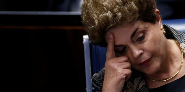 FILE PHOTO - Brazil's suspended President Dilma Rousseff attends the final session of debate and voting...