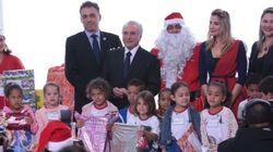 A animação das crianças no Natal do Temer vai contagiar