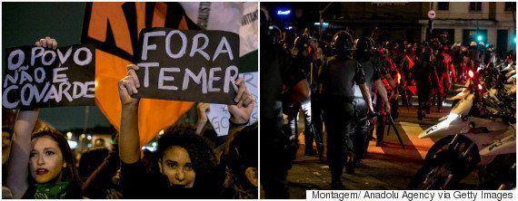 Novo ato contra Temer tem truculência da polícia e prisão de 4