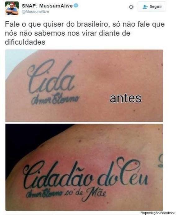 Esta Tatuagem Prova Que O Brasileiro Só Não Dá Jeito Na Morte