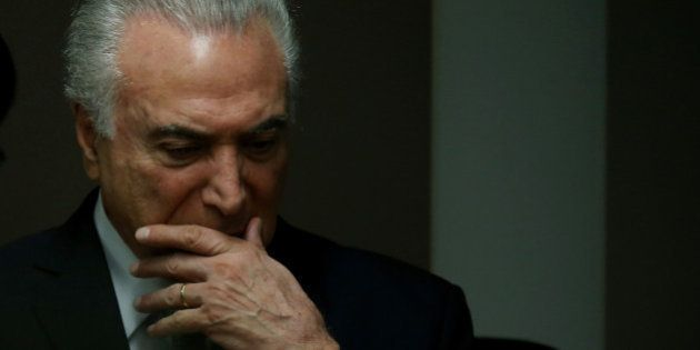 Brazil's President Michel Temer attends the inauguration ceremony of Federal Accounts Court President...
