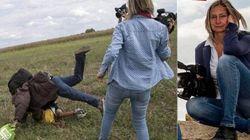 Cinegrafista húngara que chutou refugiados é