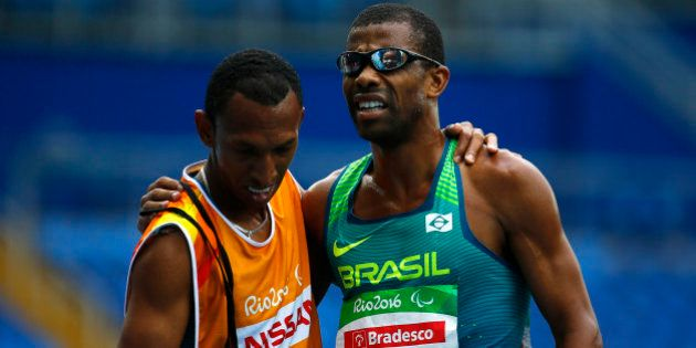 2016 Rio Paralympics - Athletics - Men's 5000m T11 Final - Olympic Stadium - Rio de Janeiro, Brazil -...